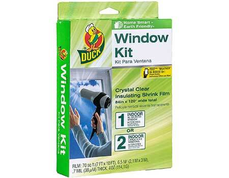 Window Insulation Kit-Clear Film-17 FEET LONG Double Sided Tape-Cover 5 Windows